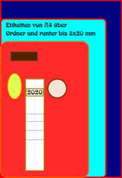Etiketten und Rückenschilder
