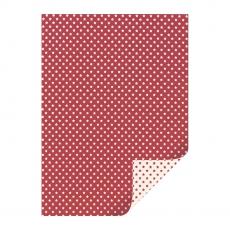Karton Sterne  DIN A4 rot/beige