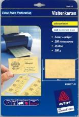 Visitenkarte 85x54mm ILK 200 g m² 250St