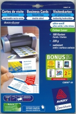 Visitenkarte Colour Laser 220g/m² DIN A4 85x54mm