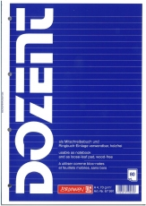 Notizbuch A4 Dozent liniert