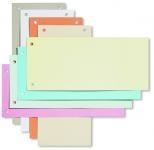Trennstreifen orange, 10,5x24cm, 190g/qm Karton, gelocht