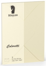 Coloretti-5er Pack Briefumschläge C6 80g/m², creme