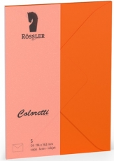 Coloretti-5er Pack Briefumschläge C6 80g/m² apfelsine