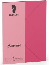 Coloretti-5er Pack Briefumschläge C6 80g/m² pink