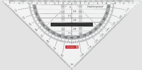 Geodreieck 16 cm mit Griff Neu /& OVP von Brunnen Farbe Onyx