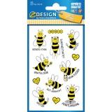 Etiketten fleißige Biene