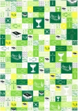 Motivkarton A4 Patchwork grün