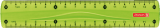 Lineal 15cm kiwi