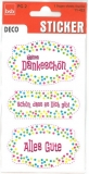 Creativ Sticker Danke