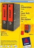 Ordner-Etiketten für breite Ordner, kurz, rot, 192x61mm