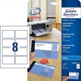 Visitenkarte Inkjet 260g/m² DIN A4 85x54mm matt weiß