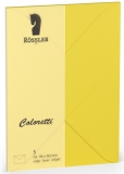 Coloretti-5er Pack Briefumschläge C6 80g/m² goldgelb