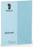 Coloretti-5er Pack Briefumschläge C6 80g/m² himmelblau