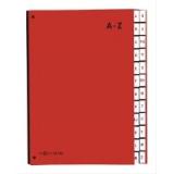 PAGNA Pultordner Color, A4, A - Z, 24 Fächer, rot