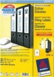 Ordner-Etiketten für breite Ordner, kurz, weiss, 192x61mm