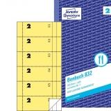 Bonbuch, 105 x 198 mm, gelb