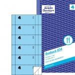 Bonbuch, 105 x 198 mm, blau