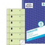 Bonbuch, 105 x 198 mm, grün
