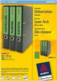 Ordner-Etiketten für schmale Ordner, kurz, grün