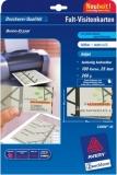Falt-Visitenkarte 260g/m² DIN A4 85xx54mm matt weiß