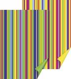 Fotokarton 50 x 70 Streifen gelb/grün