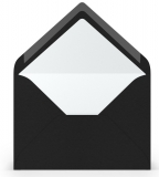 Briefumschläge B6 Sf., Schwarz