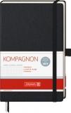 Notizbuch 12,5 x 19,5 kariert schwarz