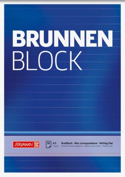 Briefblock A5 liniert