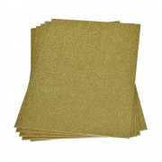 Moosgummi 20×30 cm, 2 mm, Glitter gold