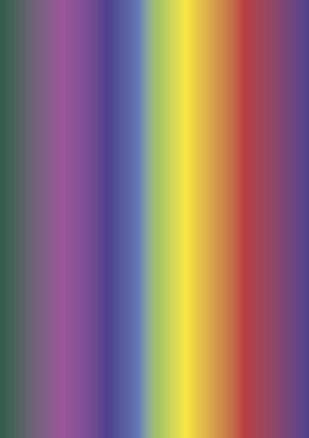 Regenbogen-Fotokarton A4