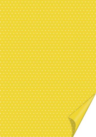 Motivkarton Punkte gelb