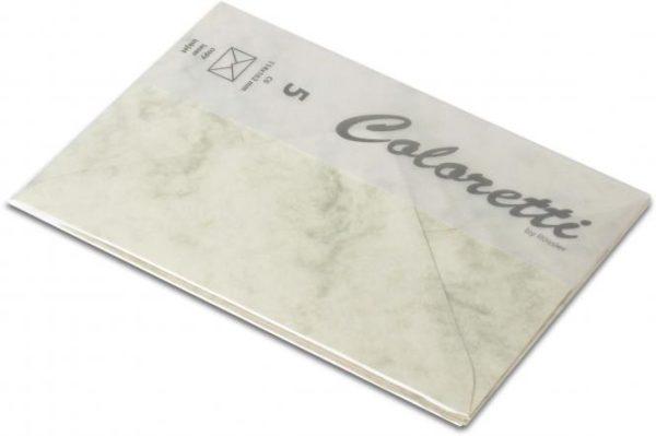 Coloretti-5er Pack Briefumschläge C6 80g/m², cham. marm