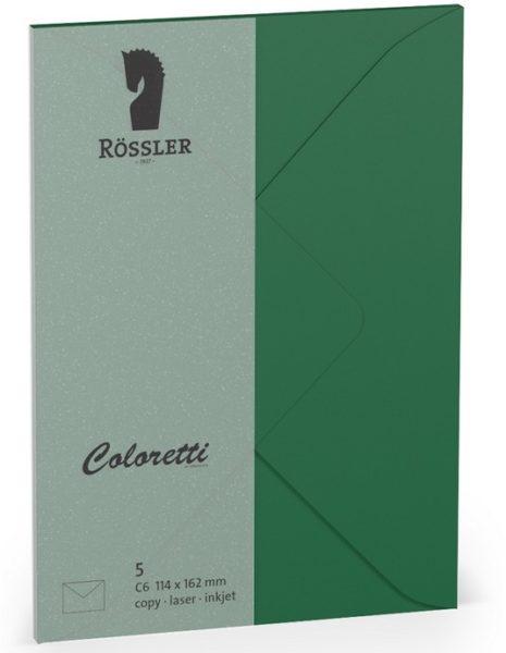 Coloretti-5er Pack Briefumschläge C6 80g/m², forest