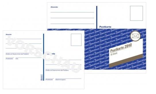 Postkartenheft, Heft mit 10 Karten, A6 quer