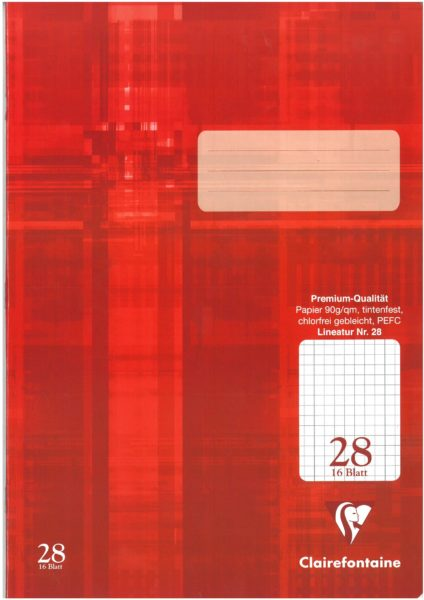Schulheft Clairefontaine A4, 90g, Nr.28