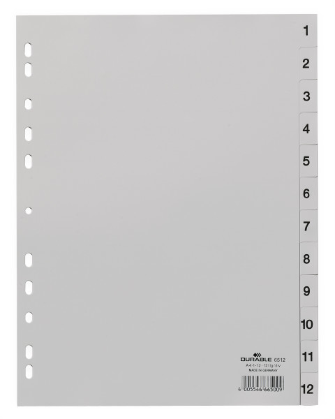 DURABLE Kunststoff-Register, 1-12