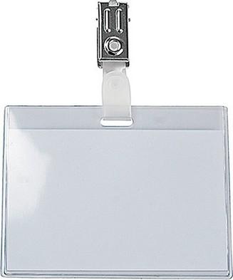 Namensschild mit Clip, 97 x 74mm