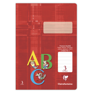 Schulheft Clairefontaine A4, 90g, Nr.3