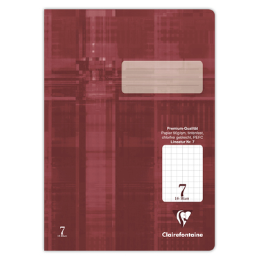 Schulheft Clairefontaine A4, 90g, Nr.7