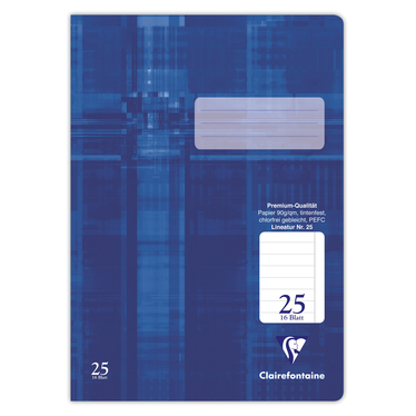 Schulheft Clairefontaine A4, 90g, Nr.25