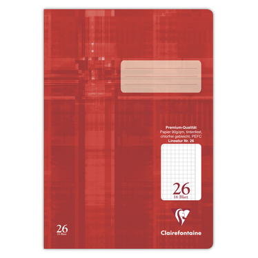 Schulheft Clairefontaine A4, 90g, Nr.26