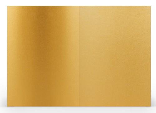 Karten B6 hd-pl, goldfarbig