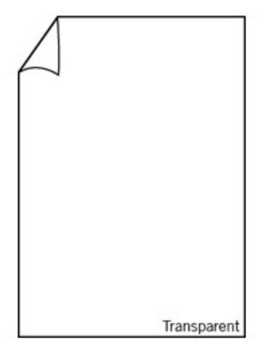 Paperado-Blatt A4, transp. hochweiß