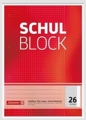 Schulblock A4 Lin.26