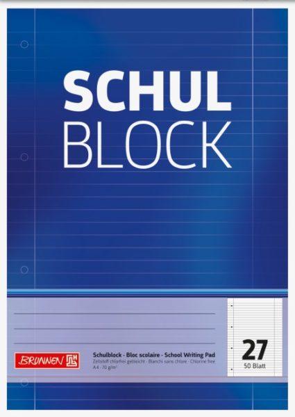 Schulblock A4 Lin.27