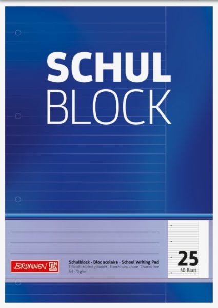 Schulblock A4 Lin.25
