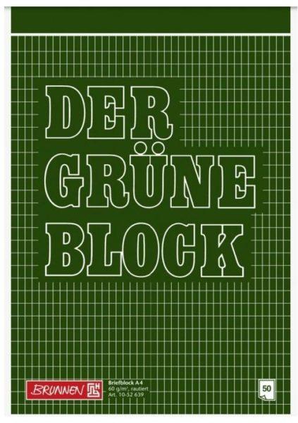 """Briefblock A4 60g langkar """"Der Grüne Block"""""""""""""""