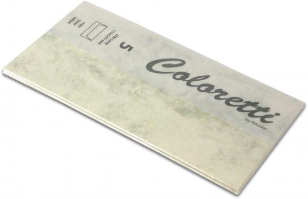 Coloretti-5er Pack Briefumschläge DL 80g/m², chamois marmora