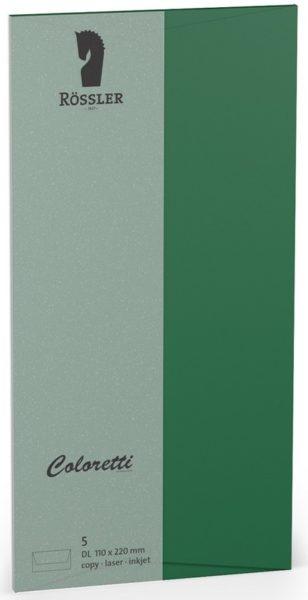 Coloretti-5er Pack Briefumschläge DL 80g/m², dunkelgrün